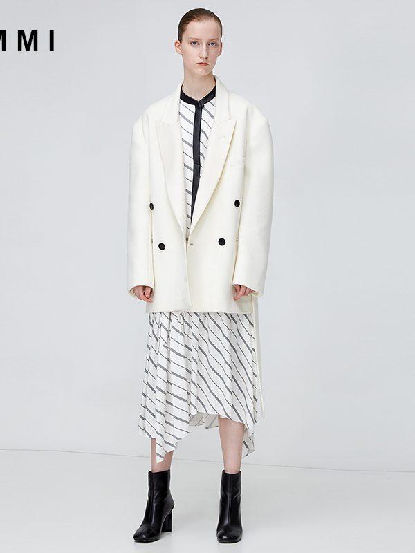 8b882f9ce0 Silk satin striped dress 182DS029X – I M M I